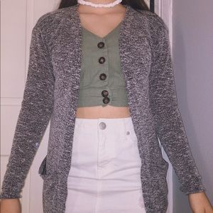 Gray H&M Long sleeve Cardigan